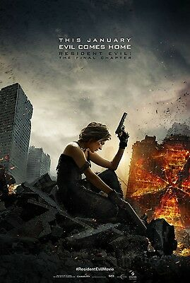 """Resident Evil The Final Chapter 2017 Movie Milla Jovovich New Film Poster 27x40"""""""