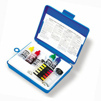 4-IN-1 Swimming Pool Test Kit Swimming Chlorine pH Free Total Alkalinity 8440