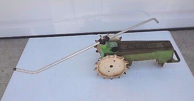 Vintage Melnor Large Cast Iron Walking Lawn Tractor Sprinkler Green & Yellow
