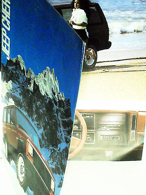 CATALOGUE/PROSPECTUS  JEEP CHEROKEE 07 1986(mod87)  FRENCH EDITION
