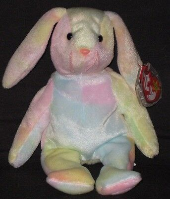 ba4d5f4264e TY HIPPIE THE BUNNY BEANIE BABY - MINT with MINT TAG -  2.95