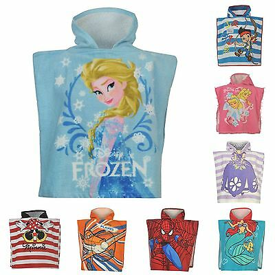 Boys Girls Character Towel Beach Bath Swimming Hooded Kids Childrens Poncho