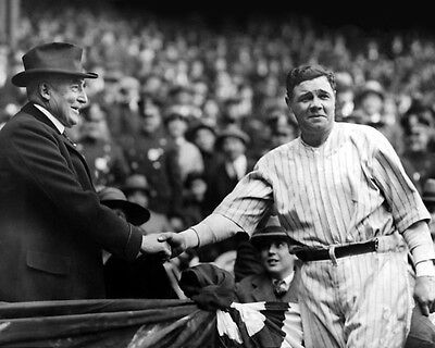 U.S. President WARREN HARDING & BABE RUTH  8x10 Photo @ Yankees Stadium Poster
