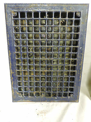 Vintage 1920S Iron Heating Grate Square Design 15.75 X 12 A