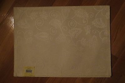 "Set of 2 Lenox ""Fruitier"" Placemats – Deep Ivory – New $20"