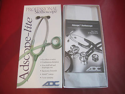 "ADC Adscope-Lite 609FS Stethoscope 22"" Frosted Seafoam Green Professional"
