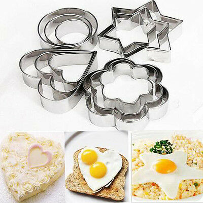 1Set/12Pcs Stainless Steel Biscuit Cookie Cake Pastry Fondant Mold Mould Cutter