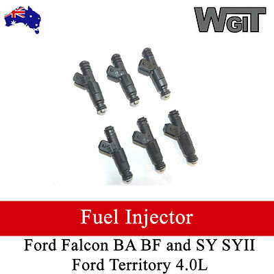 Ford Falcon BA BF  and SY SYII Ford Territory 4.0L Injectors  OEM Quality