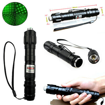 NEW Professional 1mw 532nm 8000M Powerful Green Laser Pointer Light Lazer Beam