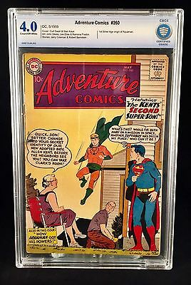 Adventure Comics #260 CBCS GRADED 4.0 - 1st Silver Age Origin of Aquaman