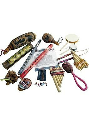 South American Sounds. Pack of 15 Musical Instruments