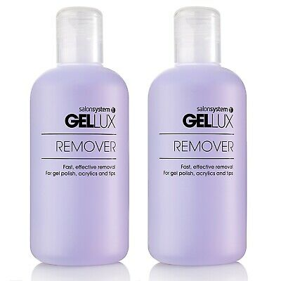 Gellux Profile Remover Acetone Gel Nail Polish UV LED Twin Duo (Pack of 2) 250ml