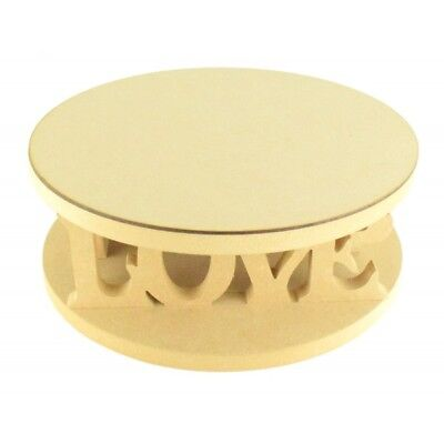 18mm MDF Round Wedding Cake Stand - Love - Variety of Sizes Available - CTO209