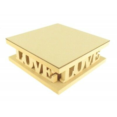 18mm MDF Square Wedding Cake Stand - Love - Variety of Sizes Available - CTO202