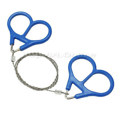 Stainless Steel Wire Saw Emergency Camping Hunt Survival Ring Cutter Tool Kit