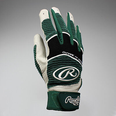 NEW Rawlings Workhorse Youth Batting Gloves Pair - Dark Green Lists @ $36.99