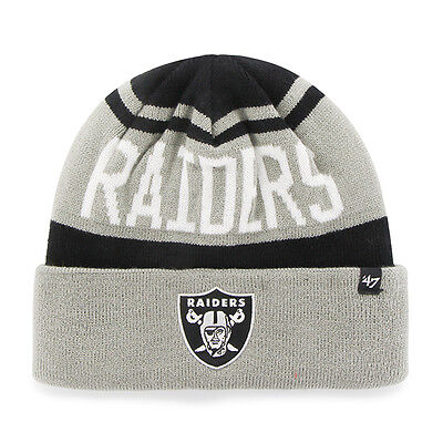 OAKLAND RAIDERS BEANIE Brain Freeze Cuff Knit Toboggan -  21.95 ... 58e03bf85
