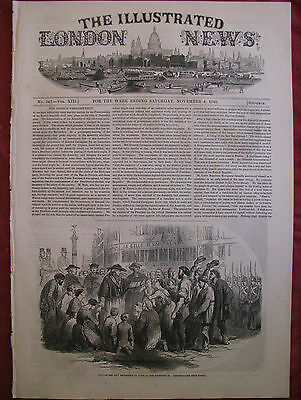 ILLUSTRATED LONDON NEWS 1848 Moultan & Sikh Soldiers India,Croatian Guard