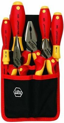 Wiha #32985 Insulated Industrial Pliers/Drivers Set, Belt Pack Pouch, 7 Pc. Set