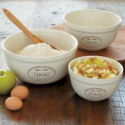 CHEFS Fresh Valley Mixing Bowl Set, 3-piece - set of 3 - CHEFS Fresh Valley