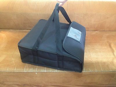 """New Improved Pizza Delivery Hot Bag (Insulated full Black) 20""""x20""""x7""""approx"""