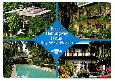 Key West Florida Postcard Ernest Hemingway Home Colonial Swimming Pool Author