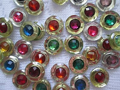 33 Multi Coloured Resin Buttons/flat Backs