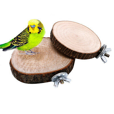 Parrot Pet Bird Chew Wooden Toy Hanging Swing Birdcage Parakeet Cockatiel Cages
