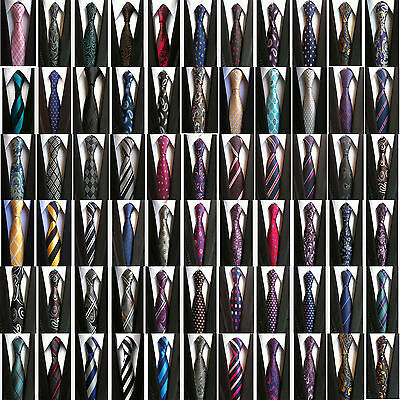 Classic Paisley JACQUARD WOVEN 100% Silk Men's Business Tie Necktie 68 Colors