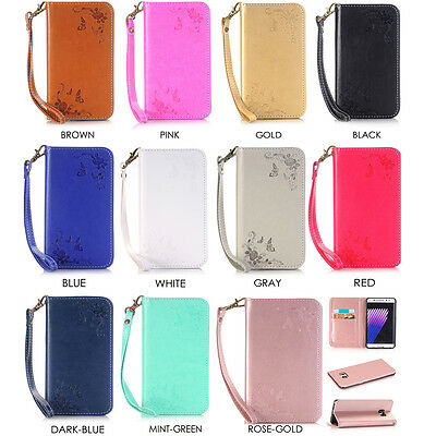 Magnetic Flip stand Card Slot Leather wallet + TPU Case Cover For Samsung Galaxy