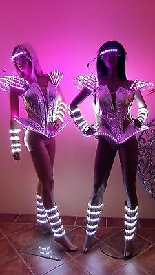 Corset with or without LED lights ! Costume Dance Outfit Robot Clothes Lady GaGa