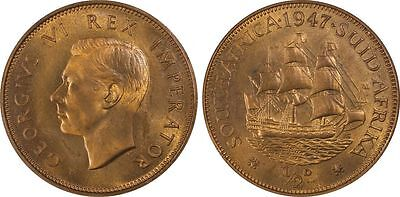 1947 South Africa Proof 1/2 Penny PCGS PR65RD