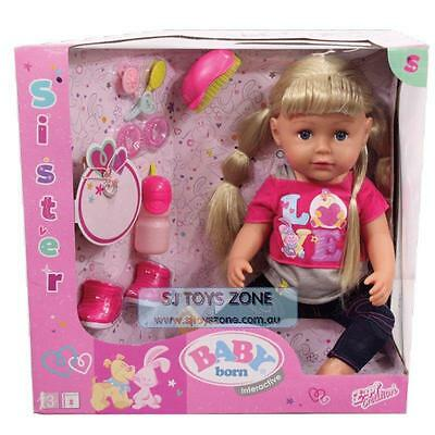 Zapf Creation Baby Born Interactive Sister Doll 9 Features  Role Play Toy