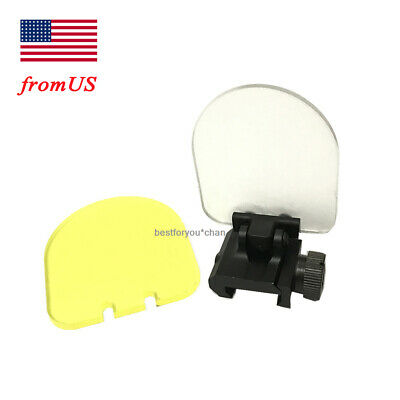 Airsoft Tactical Foldable Lens Protector Scope Red Dot Cover w/2 Spare Lens BK