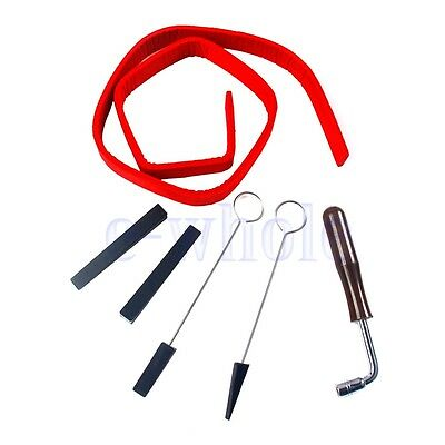 6Pcs/Set Professional Piano Tuning Kit Hammer Lever, Mutes & Fork BE