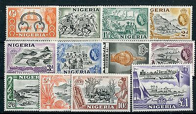 Nigeria  QEII 1953 definitive issue of 12 SG69//80 MNH
