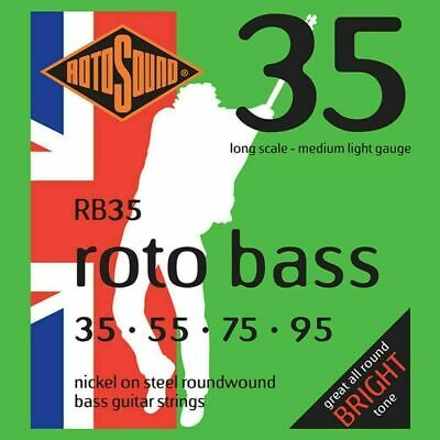 Rotosound RB35 Bass Guitar Strings - Nickel Roundwound - Long Scale Med Light