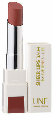 Une by Bourjois Sheer Lips Balm ~ S07 ~ Nude Pink Brown Lipstick Natural Organic
