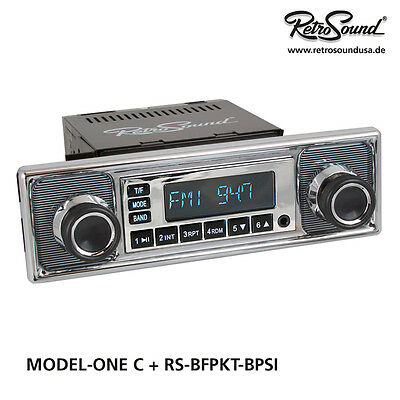 "BMW 1600 1964-66 Car Radio ""Becker pinstripe"" for classic cars USB, BT"
