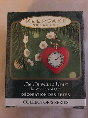 Hallmark Miniature Ornament 2000 TIN MAN's HEART Wonders Of Oz 2nd In Series