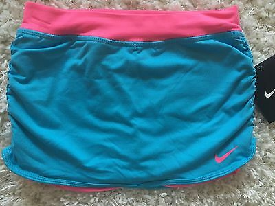 Nike Girls DRI-FIT Athletic Skirt Skort Pink Blue NWT Size 6