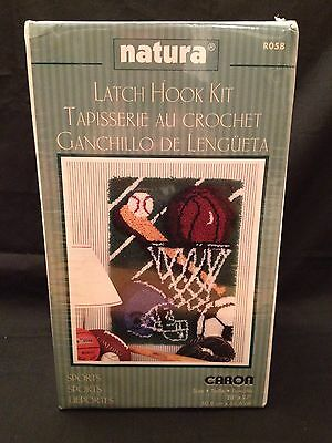 "Sports Latch Hook Kit Natura 20"" X 27"" New Sealed"