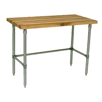 "John Boos JNB16 Wood Top Work Table 72""W x 36""D"