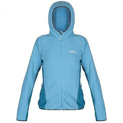 Regatta Womens Hooded Full Zip Micro Fleece Seymore II *REDUCED* Blue £12.99
