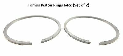 Piston Ring Set 44MM Pair Moped Scooter 44.00X1.50 GI  64CC ALUMINUM CYLINDER