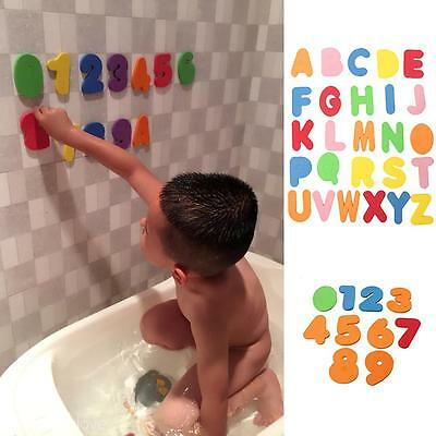 36Pcs Alphanumeric Alphabet Bath Puzzle Kids Baby Bath Toy Soft Educational Toy