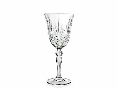 Set of 6 - RCR Italian Crystal Melodia White Wine 21 cl Goblet Glasses -SALE