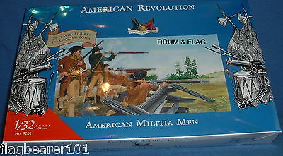 ACCURATE 3201 AMERICAN MILITIA MEN - WAR OF INDEPENDENCE - 1:32 SCALE (54mm)