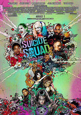 Movie Poster Print: Suicide Squad *DISCOUNTED OFFERS* A3 / A4