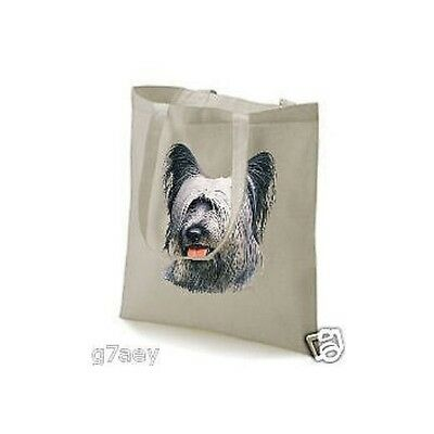 Skye Terrier Design Printed Tote Shopping Bag